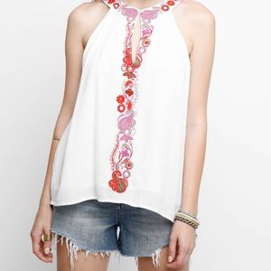 Chloe Oliver White Tank With Embriodery